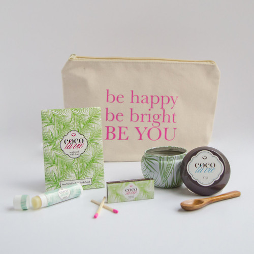 Coco La Vie_Be Happy, Be Bright, BE YOU! Little Bit of Coco Travel Set_Fiji Travel Candle