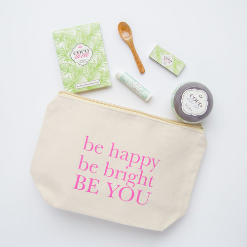 Coco La Vie_Be Happy, Be Bright, Be YOU! Little Bit of Coco Travel Set_Lavender Travel Candle_open
