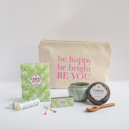 Coco La Vie_Be Happy, Be Bright, Be YOU! Little Bit of Coco Travel Set_Lavender Travel Candle