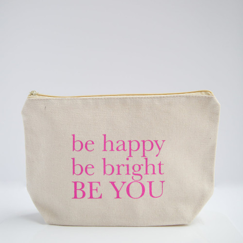 Coco La Vie_Be Happy, Be Bright, Be YOU cosmetic travel bag