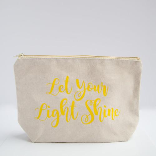 Coco La Vie_Let Your Light Shine cosmetic travel bag