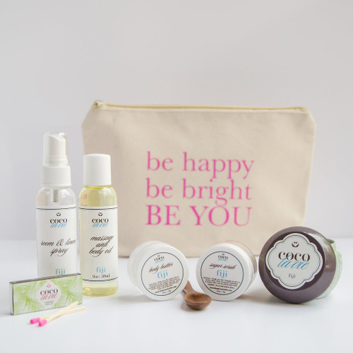Coco La Vie_Be Happy, Be Bright, BE YOU! Pampered CoconutTravel Set_Fiji Scented