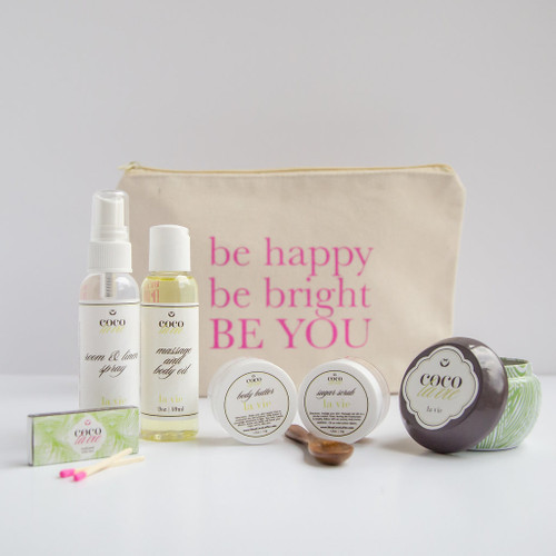 Coco La Vie_Be Happy, Be Bright, BE YOU! Pampered Coconut Travel Set_La Vie Scented