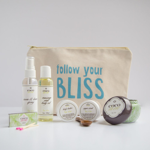 Coco La Vie_Follow Your Bliss Pampered Coconut Travel Set_La Vie Scented