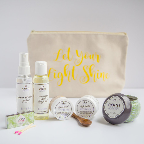 Coco La Vie_Let Your Light Shine Pampered Coconut Travel Set_Lavender Scented
