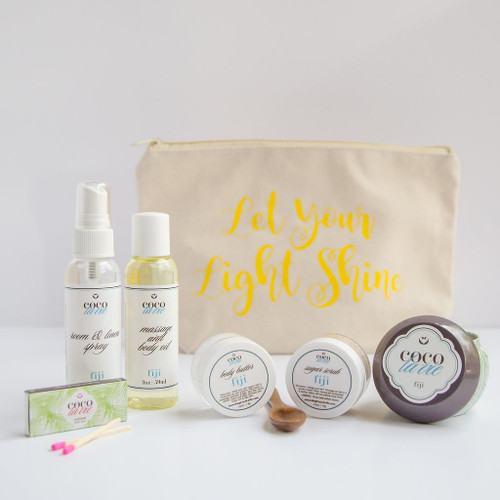 Coco La Vie_Let Your Light Shine Pampered Coconut Travel Set_Fiji Scented