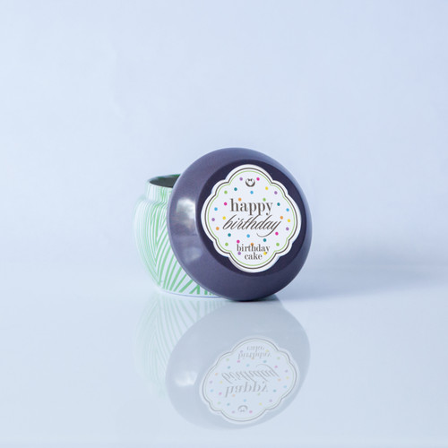 Happy Birthday! B-day Cake Scented Coco La Vie Massage Travel Tin