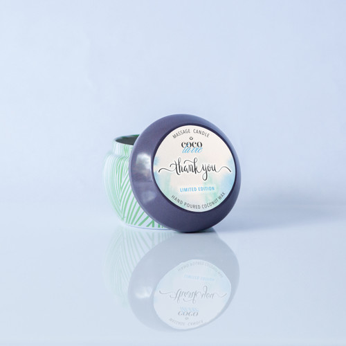 Coco La Vie Thank You! [Limited Edition] scented massage travel candle