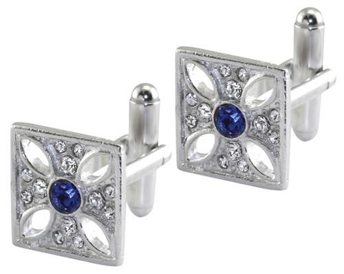 Imperial State Crown Cross cufflinks
