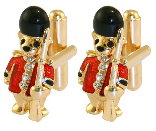 Guardsman Teddy cufflink