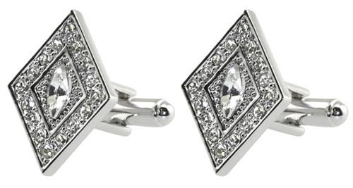 Diamond shaped cufflinks