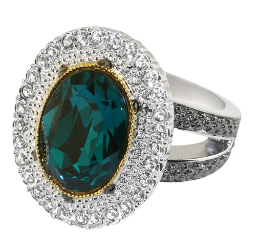 Catherine the Great emerald crystal ring -small 83, Med 84, Lrg 85, Xlrg 86