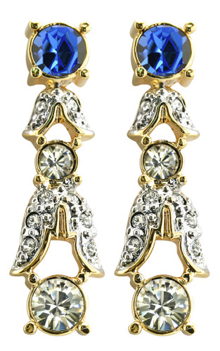 Empress Josephine of France sapphire crystal earrings