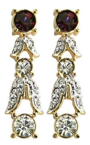 Empress Josephine of France amethyst crystal earrings