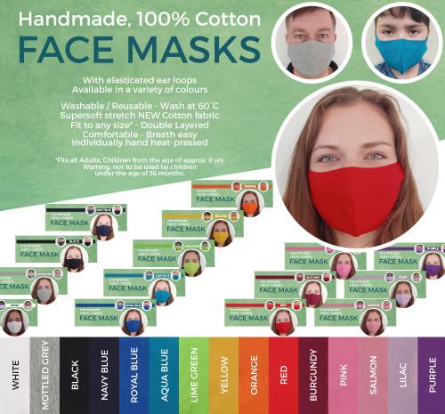 Handmade 100% Cotton Face Mask