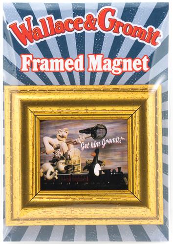 Framed Fridge Magnet-Train