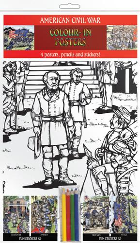 American Civil War - Colour-in posters