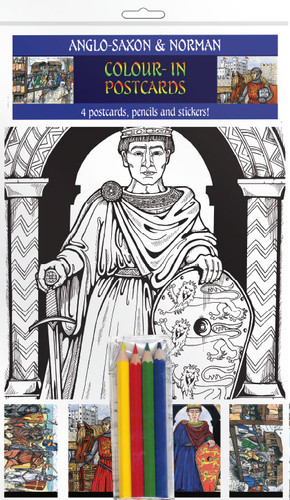 Anglo-Saxon & Norman - Colour-in postcards