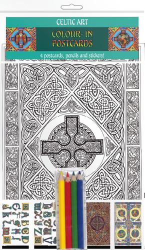 Celtic Art - Colour-in postcards