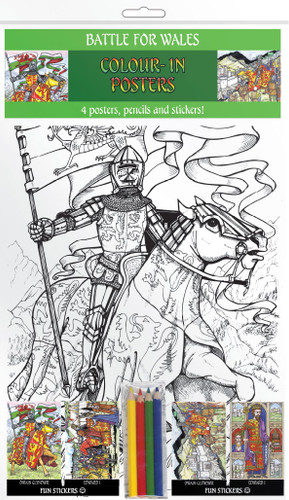 Battle for Wales - Colour-in posters