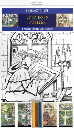 Monastic Life - Colour-in posters