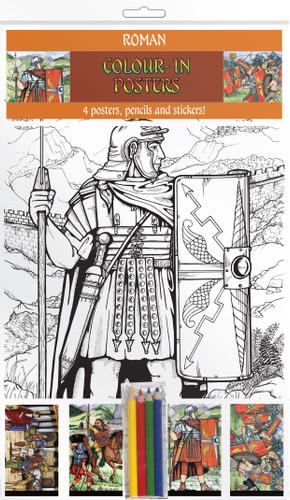 Romans In Britain - Colour-in posters