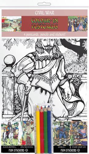 Civil War - Colour-in postcards