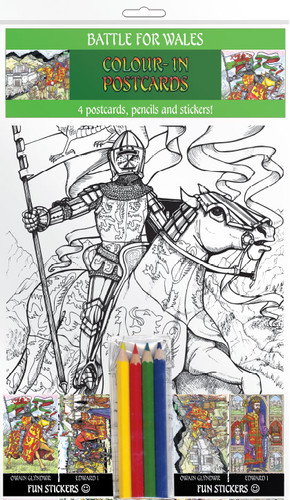Battle for Wales - Colour-in postcards