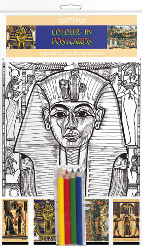 Egyptian Life - Colour-in postcards