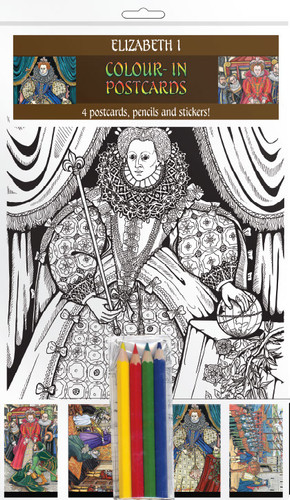 Elizabeth I - Colour-in postcards