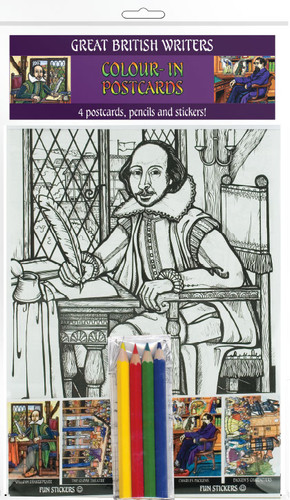 Great British Writers - Colour-in postcards