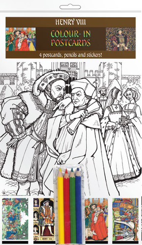 Henry VIII - Colour-in postcards