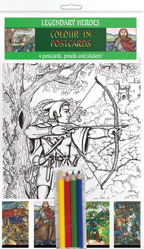 Legendary Heroes - Colour-in postcards