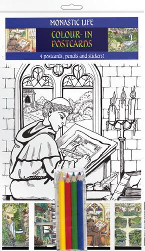 Monastic Life - Colour-in postcards