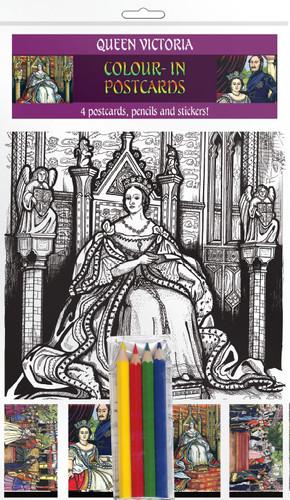 Queen Victoria - Colour-in postcards