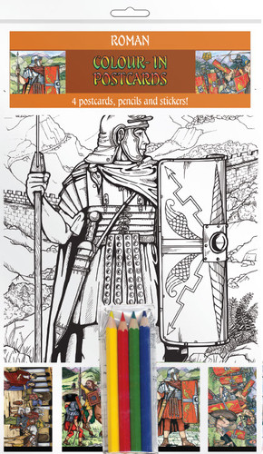 Romans In Britain - Colour-in postcards