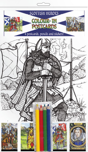 Scottish Heroes - Colour-in postcards