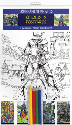Tournament Knight - Colour-in postcards