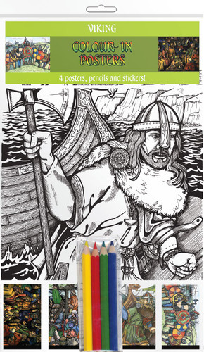 Viking Life - Colour-in postcards