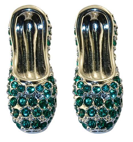 Wizard of OZ Dorothy Earrings Emerald