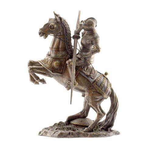 Large Mounted Bronze Finish Knight