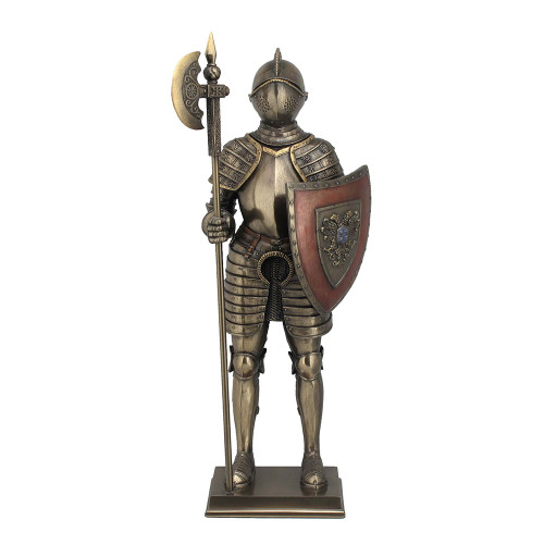 Medieval Knight with Double Eagle Shield
