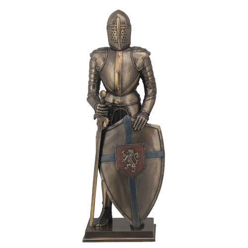 Medieval Knight with Lion Rampant Shield