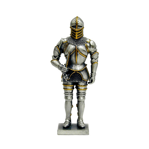 Solid Hand Cast Metal Knights