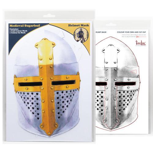 Multi-Purpose Packaged Face Mask - Medieval Helmet