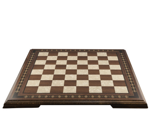 Mini Chessboard with Marquetry & Legs Walnut & Eco Mother of Pearl