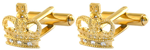Jubilee crown cufflinks