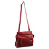 Milleni Cross-Body Handbag with perforated detail in Red (NC2681)