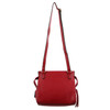Milleni Cross-Body Handbag with perforated detail in Red (NC2681) - Back