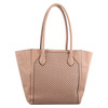Milleni Fashion Tote Perforated Handbag in Blush (PV2927) - Back